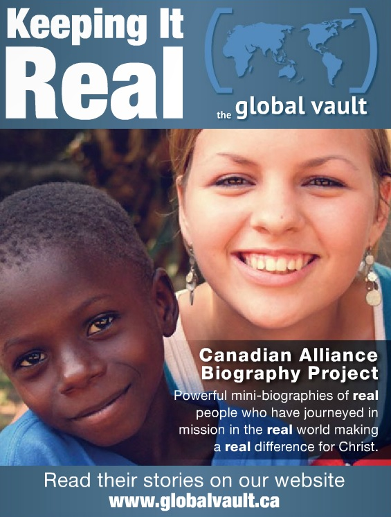 Keeping it Real Global Vault Canadian Alliance Biography Project Ad
